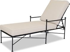 Shop this sunset west quick ship provence wrought iron chaise in canvas flax with self welt from our top selling Sunset West chaise lounges. PatioLiving is your premier online showroom for patio seating and high-end outdoor furniture. Patio Chaise Lounge, Patio Seating, Chaise Lounges, Pergola Patio, Lounge Chairs, White Pergola, Backyard, Pergola Plans, Lounge Areas