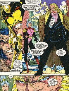 Lady Deathstrike, Silver Samurai, Comic Art, Comic Books, Omega Red, Honey Badger, Dark Ages, X Men, Cyber