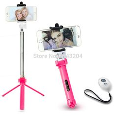 Cheap bluetooth selfie stick, Buy Quality selfie stick directly from China bluetooth selfie Suppliers: Portable Bluetooth Selfie Stick in Tripod For iPhone 4 5 6 7 Samsung Galaxy Android Wireless Control Hands Free