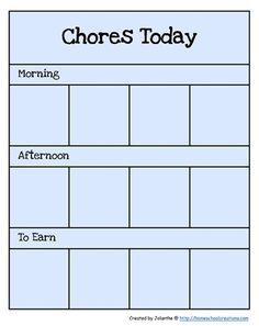 "EEEPPP!! I love this idea!  Picture chore chart for children who do not yet read.  A great way to keep track of a set of daily ""expected"" chores and chores to earn some money (cents, my friends).  I think this links back to a previous post with this family's chore philosophy."