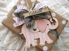An elephant never forgets! Ring toss your way to captivatingly cute handmade tags for unforgettable birthday toppers.
