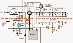 3v, 4.5v, 6v, 9v, 12v, 24v, Automatic Battery Charger with Indicator Circuit - Electronic Circuit Projects