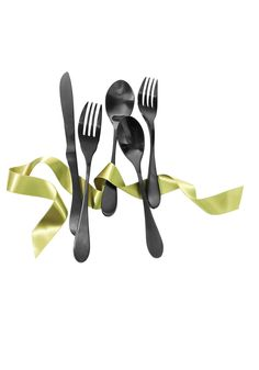 """Oprah's Favorite Things 2015    """"Not only is this dishwasher-safe, hand-forged flatware handsome—the utensils are stainless steel coated in matte black titanium—but the sides of the fork are beveled to easily cut food. Good tines! And a great housewarming gift."""" — Oprah"""