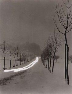 "hauntedbystorytelling: "" Peter Keetman :: Evening Road near Bernau, 1956 "" more [+] by this photographer"