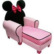 Minnie Mouse Chaise w/ Storage - I need to add this to her collection.