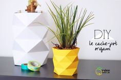 DIY: origami pineapple pot