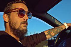 beard men. Sunglasses . Herminio Alonso