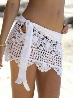 Crochet beach skirt