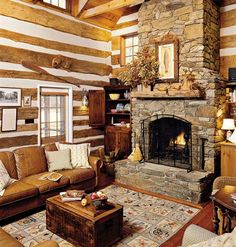 This fireplace and primitive cabinet next to it are great. Perfect in a log designs home design house design