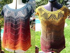 Hol Dir gleich die Anleitung ++ passende Wolle für mehrere Shirts, denn diese Tunika / dieses Netzshirt brauchst Du mehrfach in all Deinen Lieblingsfarben.