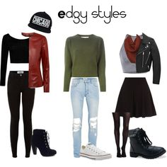 Everyday edgy outfits by sealysunflower on Polyvore featuring polyvore, fashion, style, Marni, Boohoo, Jaeger, Yves Saint Laurent, SPANX, Aéropostale, Bamboo and Converse