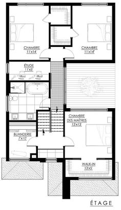 floorplans and concepts Plan de maison Parametric Architecture, Modern Architecture House, Architecture Plan, Residential Architecture, Modern Floor Plans, Modern House Plans, House Floor Plans, The Plan, How To Plan