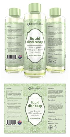Liquid Dish Soap Label Template http://www.dlayouts.com/template/798/liquid-dish-soap-label-template