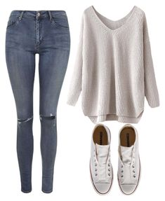 """Feel Cozy, Be Cozy"" by marsophie ❤ liked on Polyvore featuring Converse and Topshop"