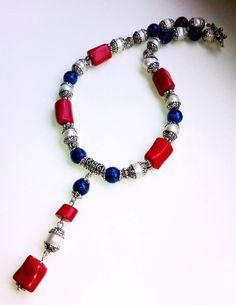 #handmade #necklace #bijou #agate #coral #pearls