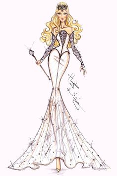 #Hayden Williams Costume Illustrations  #Disney's 'Oz' by Hayden Williams - Glinda