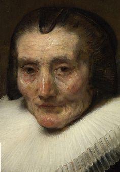 Portrait of Margaretha de Geer (detail) Rembrandt van Rijn Rembrandt Portrait, Rembrandt Art, Rembrandt Paintings, Portrait Art, Dutch Golden Age, Dutch Painters, Dutch Artists, Painting & Drawing, Art History