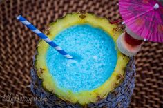If you really want to go nuts, fill your pineapple with something blue. | 21 Epic Ways To Drink Out Of Fruits