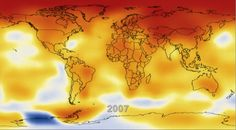 NASA ILLUSTRATES CLIMATE FORCING - January 16, 2013. This alarming video speaks for itself! NASA provides us with an illustration where you can SEE global climate change since 1884- but most notable is the steady temperature increase starting in 1970. CLICK THE PICTURE TO READ MORE.