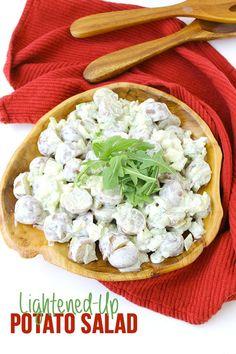 Lightened-Up Potato Salad #healthy