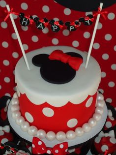 Minnie Mouse Themed Birthday Party Celebration I did the old school classic red and black for minnie mouse.
