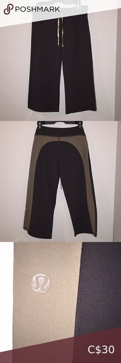 Lululemon Crop Pant Excellent Used Condition. Size Dark brown capris/crop pant with light brown on back. Plus Fashion, Fashion Tips, Fashion Trends, Cropped Pants, Dark Brown, Pant Jumpsuit, Lululemon Athletica, Jumpsuits, Pants For Women