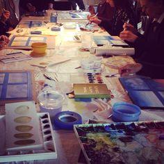 A gathering of budding artists. http://calgogardens.com/