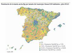 Penetración Banda Ancha fija en España (06/12)
