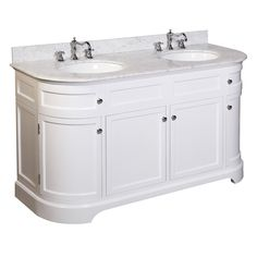 Bathroom Sink Units, Master Bathroom Vanity, Double Sink Bathroom, Modern Bathroom, Bathroom Vanities, Bathroom Ideas, Bath Ideas, White Bathroom, Master Bedroom
