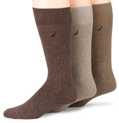 Nautica Men's 3-Pack Classic Flat Knit Sock