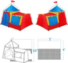 Giga The Knights Tower Kids Play Tent x Hiking Tent, Backpacking Tent, Best Tents For Camping, Tent Camping, Best Lightweight Sleeping Bag, Childrens Play Tents, Tower Fan, Star Wars, Discount Travel