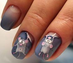 Фотография in 2020 Animal Nail Designs, Nail Art Designs Videos, Animal Nail Art, Cat Nails, Pink Nails, Gorgeous Nails, Pretty Nails, Nail Drawing, Nail Art For Beginners