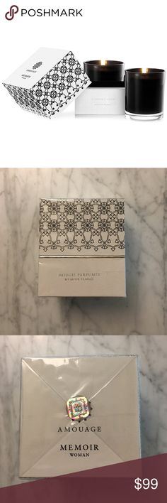 Amouage Memoir Woman scented candle Brand new, sealed candle by Amouage. Memoir woman scent. 6.9oz. Listing is for ONE candle. Retails for $128. Other