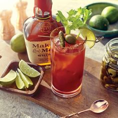The Maker's Mark Bourbon Bloody Mary recipe combines the classic Bloody Mary with bourbon to create one refreshingly delicious summer cocktail. Bourbon Bloody Mary Recipe, Bloody Mary Recipes, Brunch Drinks, Fun Drinks, Beverages, Bourbon Cocktails, Summer Cocktails, Recipe Maker, Stuffed Banana Peppers