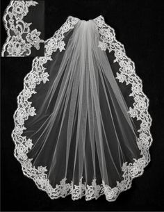 Wedding Veil with Alencon Lace