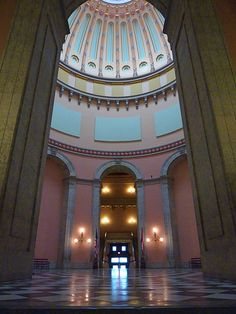 Ohio State House Rotunda, Columbus. I loved visiting here!! There's lots of history there too!