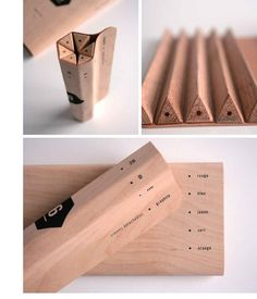 Maude Bussières's pencil packaging concept keeps extra materials to a minimum. The triangular pencils fold together in tight formation to...
