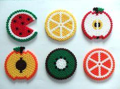 Fruit Coasters - Hama Beads
