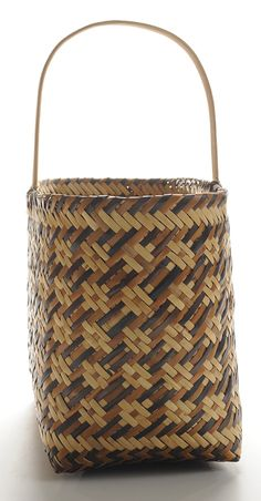 Eva Wolfe Cherokee Double-Weave River Cane Basket