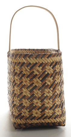 Eva Wolfe Cherokee Double-WeaveRiver Cane Basket