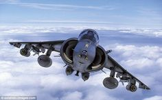 An RAF BAE Harrier GR-7 in action before the aircraft were decommissioned