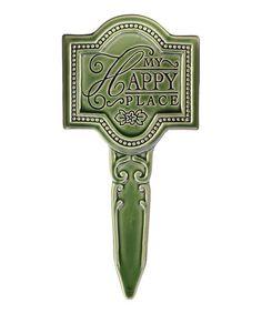 Love this 'My Happy Place' Garden Sign Pick on #zulily! #zulilyfinds