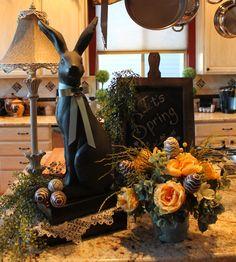 Southern Seazons: Chocolate Easter bunny display