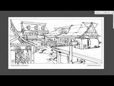 How to draw Indian market with ballpoint pen   Pen Drawing - YouTube
