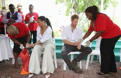 Pop superstar Rihanna teased Prince Harry when they both volunteered for HIV tests to high...