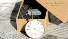 colgante esfera reloj vintage