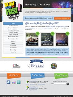 Specialty website for My Waterloo Days 2012 by VGM Forbin.