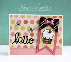 Card by SPARKS DT Karin Akesdotter PS stamp sets: Spiffy Scooters, Sugar Rush, Bold Buzzwords; PS dies: Baby Bow, Flag Tags