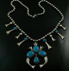#Vintage Squash Blossom Necklace Signed ART Costume #jewelry by jujubee1, $32.00