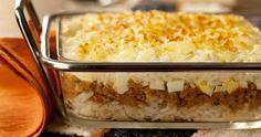 Arroz de forno com carne moída e queijo - Cozinha Simples da Deia